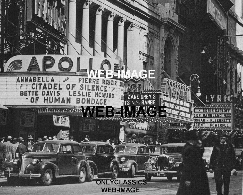 1940 new york city movie theater marquee apollo lyric