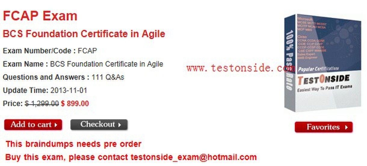 Bcs Foundation Certificate In Agile Exam Numbercode Fcap Exam