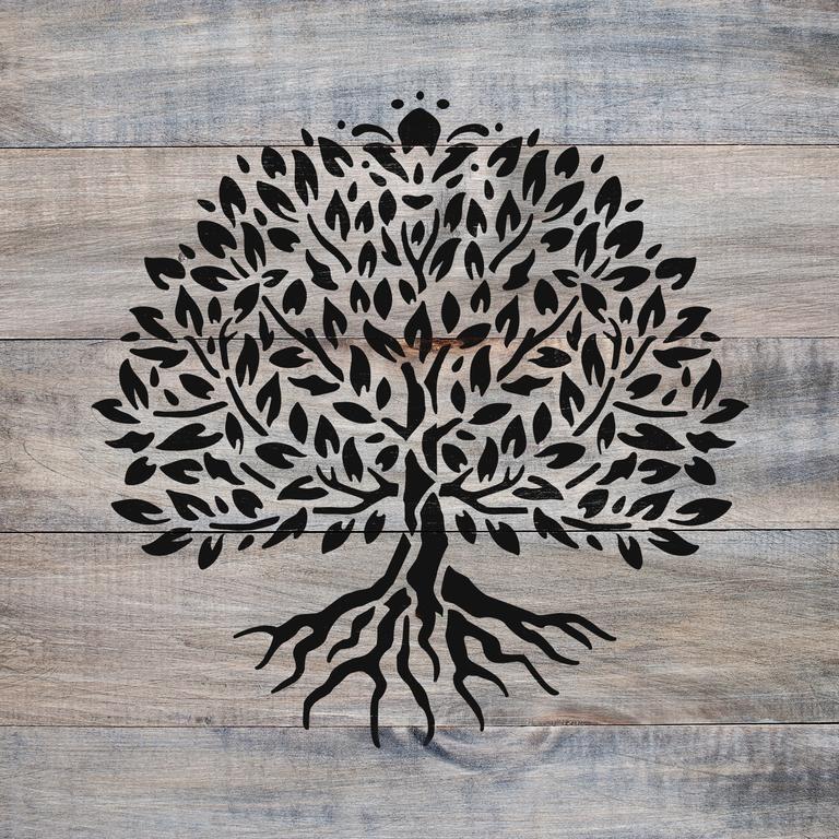 Plastic Reusable Stencil Tree of Life Celtic Pattern Design
