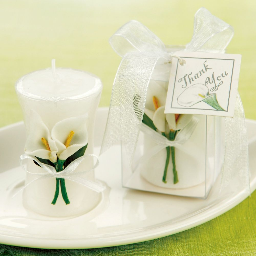 Calla Lily Candle Wedding Favor | #exclusivelyweddings ...