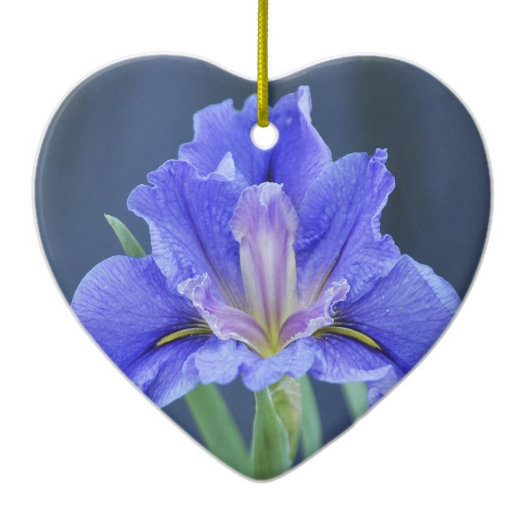 Purple Iris Flower Ceramic Ornament Iris Flowers Purple Iris Iris