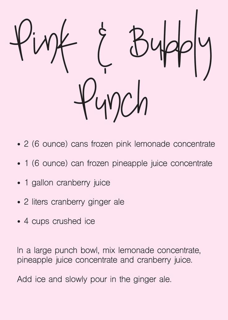 17 Best Baby Shower Punch Recipes - Blue & Pink Punch Ideas #lemonadepunch