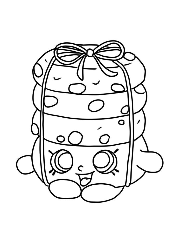 Shopkins Coloring Page Seasion 6 Stacks Cookie Print In 2020