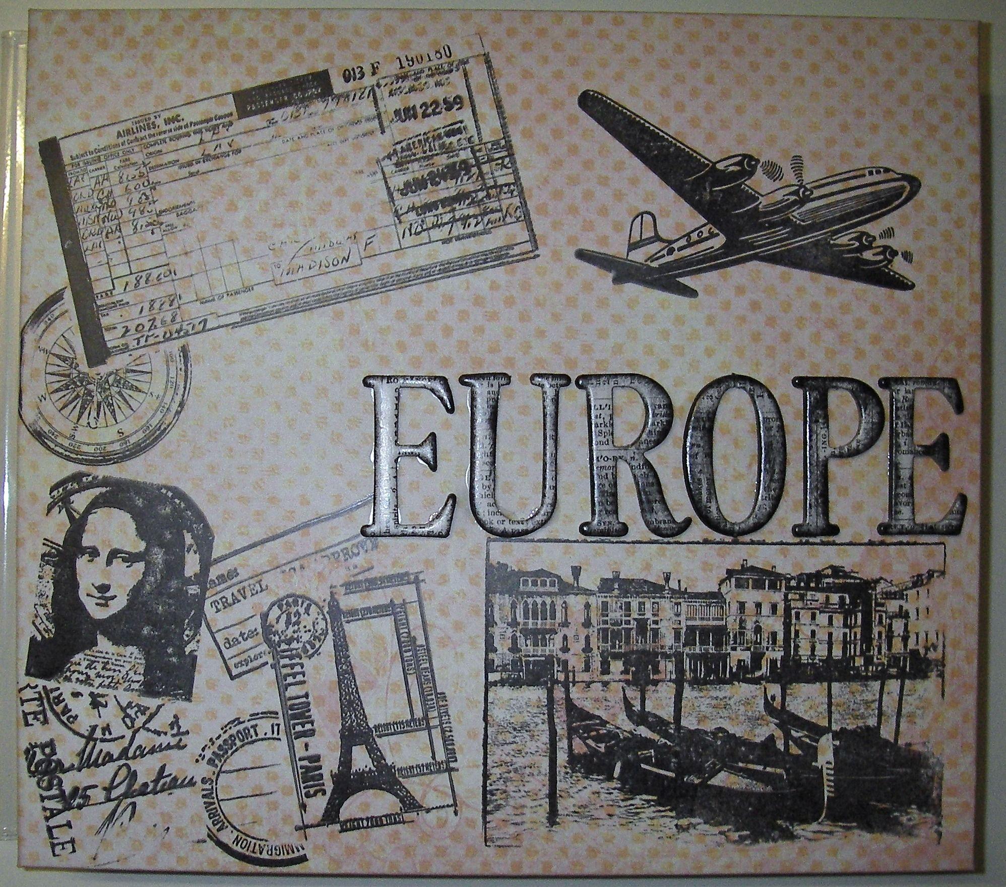 Europe scrapbook ideas - Europe Title Page Scrapbook Com