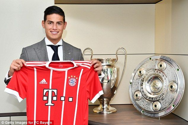 new product f318c ee4e1 James Rodriguez pictured in Bayern Munich shirt after ...