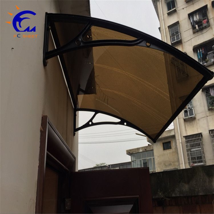 Hangmei polycarbonate sheet coated canopy price for sale