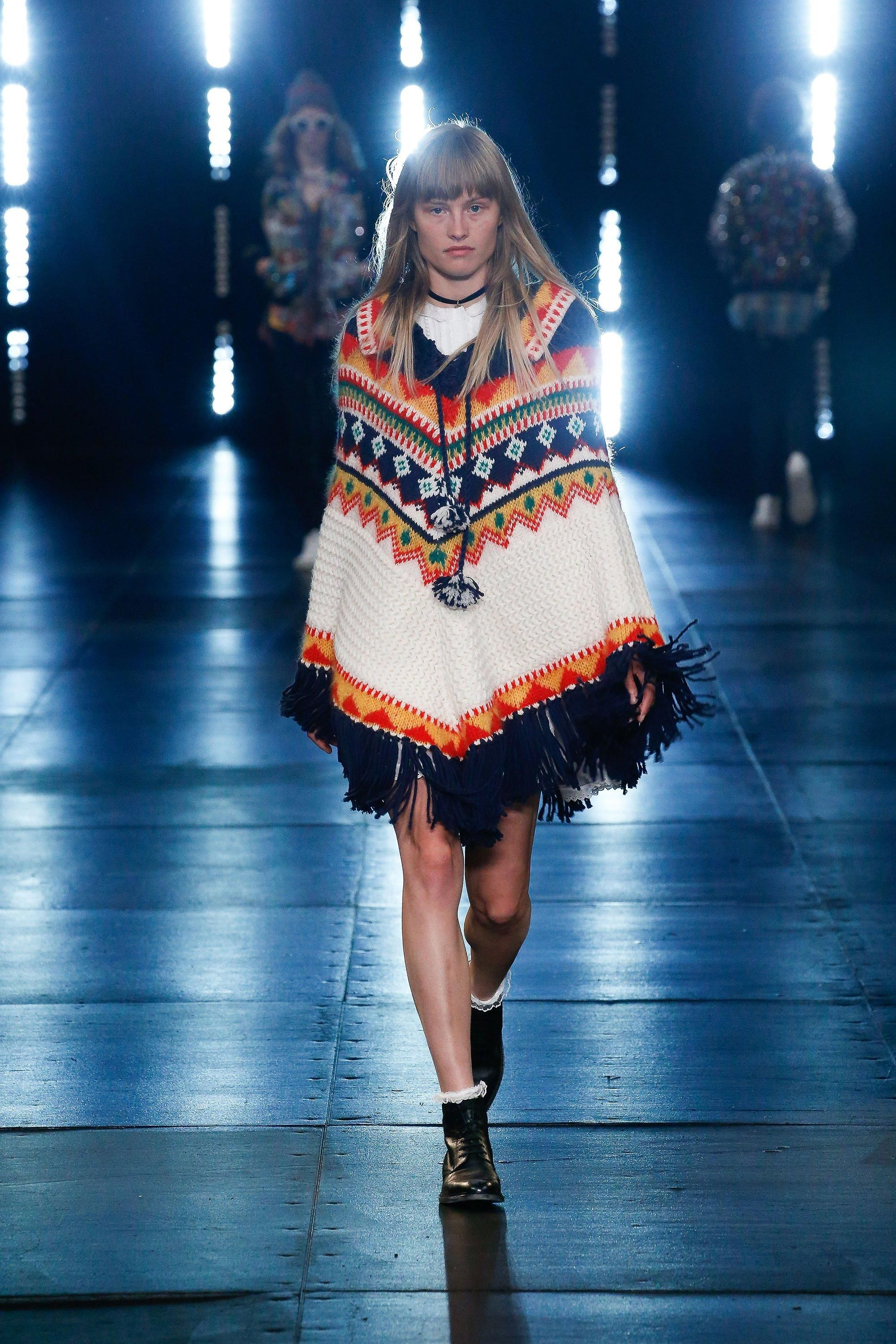 77 looks from Saint Laurent Resort 2016–starting with the poncho