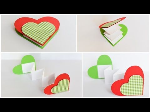 How To Make Greeting Card Heart Surprise Step By Step Diy Kartka Serce Youtube How To Make Greetings Valentine Greeting Cards Cards