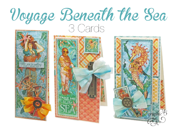 Graphic 45 Presents Voyage Beneath The Sea Album Cards Project Sheets Graphic 45 Graphic 45 Art Craft Cards Paper Crafts Cards