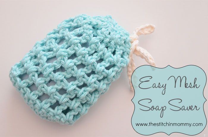 Easy Mesh Soap Saver | Diy crochet, Crochet dishcloths ...
