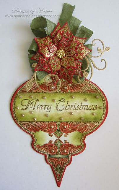 Designs by Marisa: JustRite Papercraft July Release - Heritage Christmas Ornament