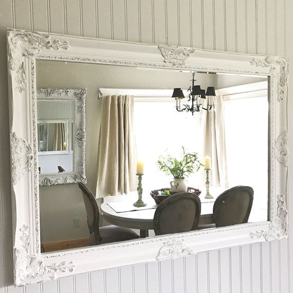 Strange White Grey Distressed Shabby Chic Mirror Extra Large Interior Design Ideas Gentotryabchikinfo