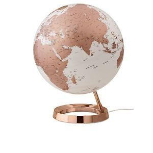 R thgloben design leuchtglobus light colour kupfer for Zimmer dekoration rosegold