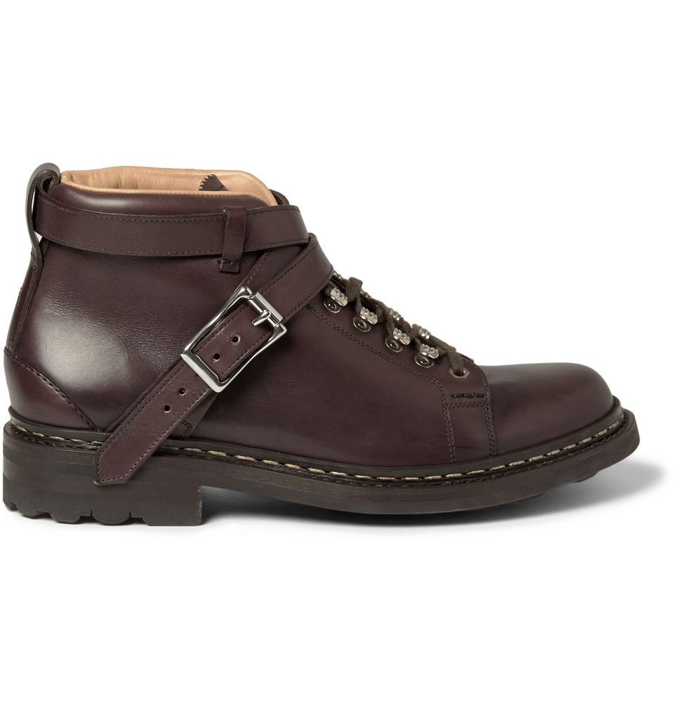 Heschung - Leather Buckle-Strap Boots MR PORTER