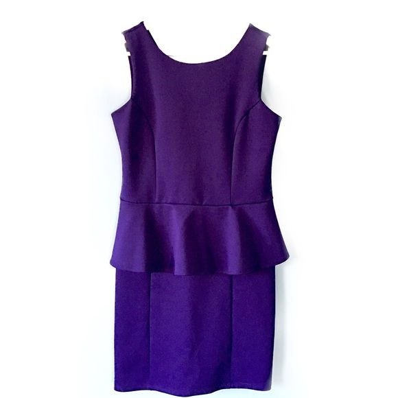 """LIKE NEW i.n.c. Peplum Dress LIKE NEW I.N.C. International Concepts Royal Purple Peplum Dress // this dress feels absolutely amazing.. So soft and stretchy. Quality material!! // 93% polyester, 7% spandex will make this hug your body in all the right places!! // INC brand (sold at Macy's) sz Petite Small // 17"""" from armpits / 34.25"""" length // v-back with zipper // non-smoking home  20% off 2+ Bundles // Same Day or Next Day Shipping!!  3.28.43 INC International Concepts Dresses Mini"""