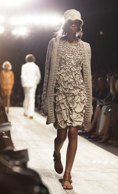 fabric manipulation on the dress!
