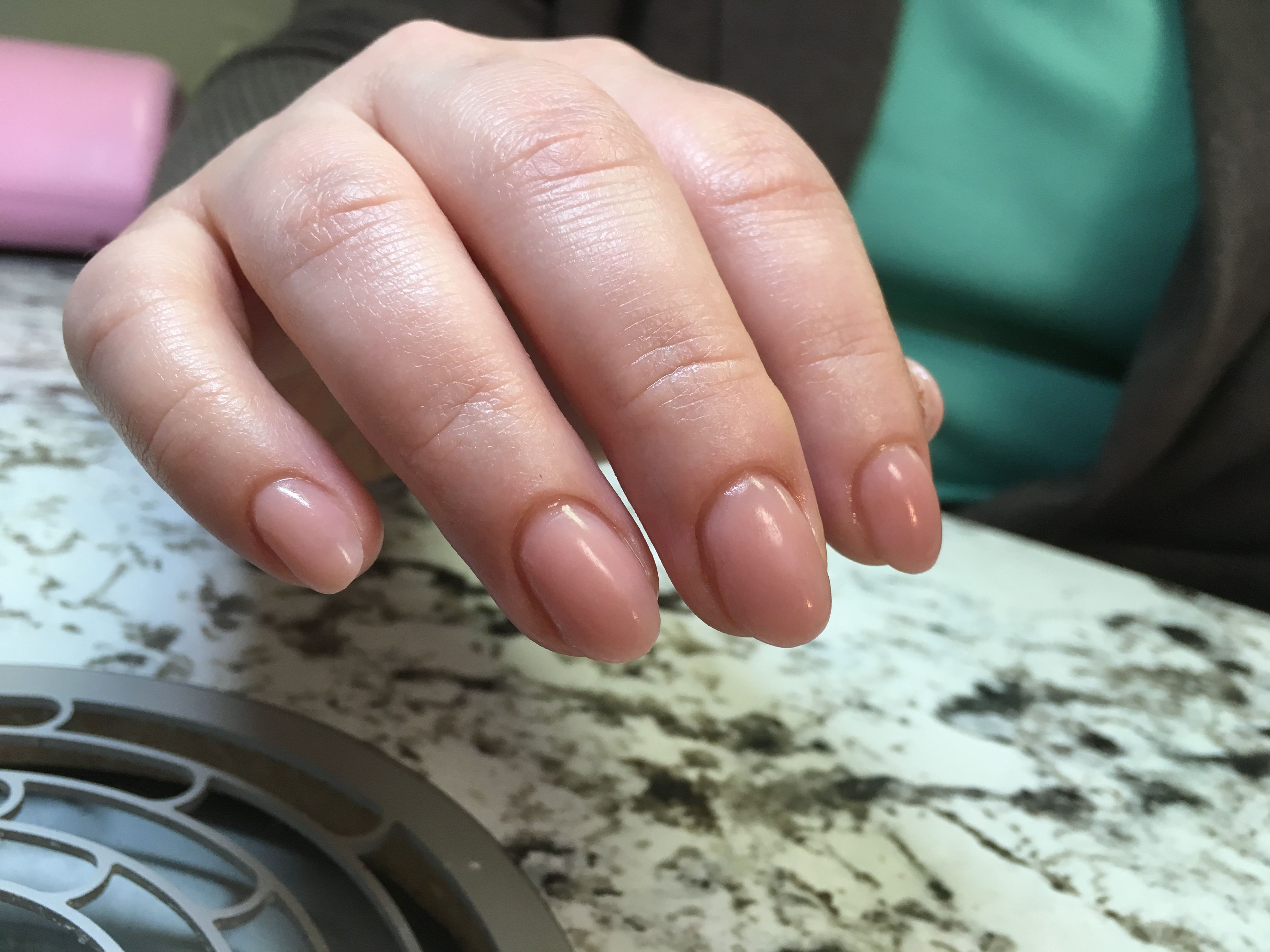 Gel Nails In Pink Nude Color Mirielle Ficacci Nails Designer My
