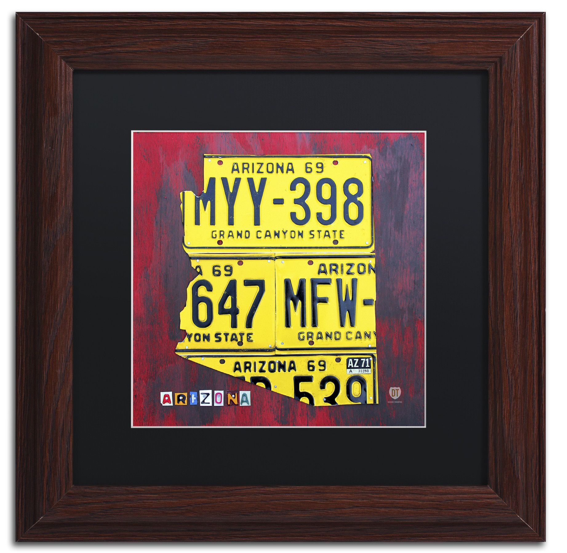 Arizona License Plate by Design Turnpike Framed Graphic Art ...