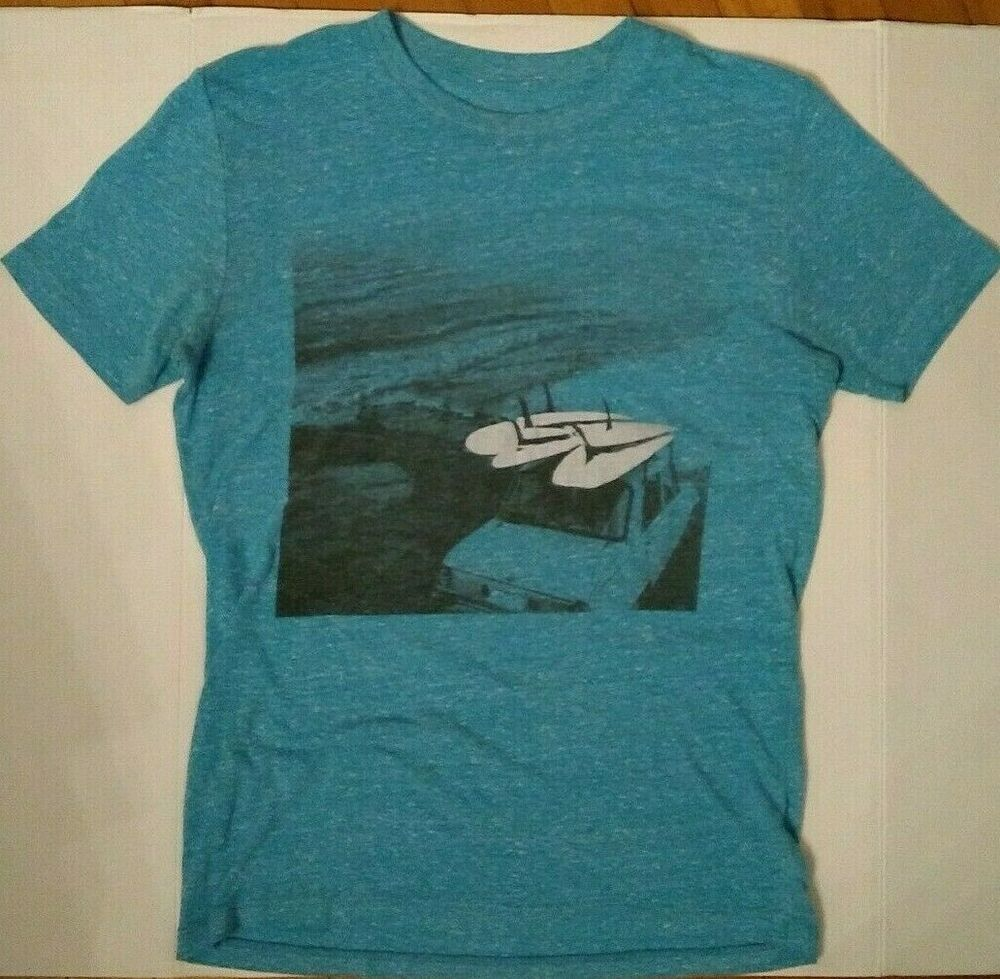 Surfboard Beach Sea Punk Thin T Shirt Free State Teal Blue Sml Grunge Rad Surf Freestate Graphictee Casual Free Shirts Seapunk Teal Blue