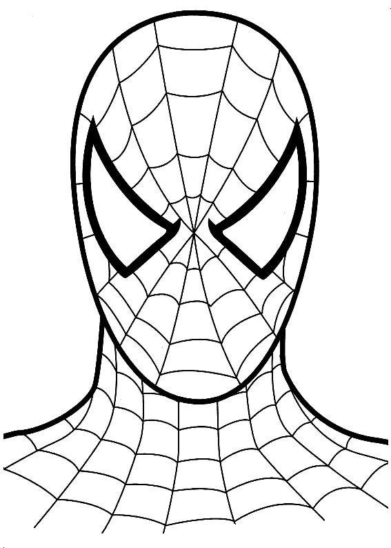 Kids Under 7 Spiderman Coloring