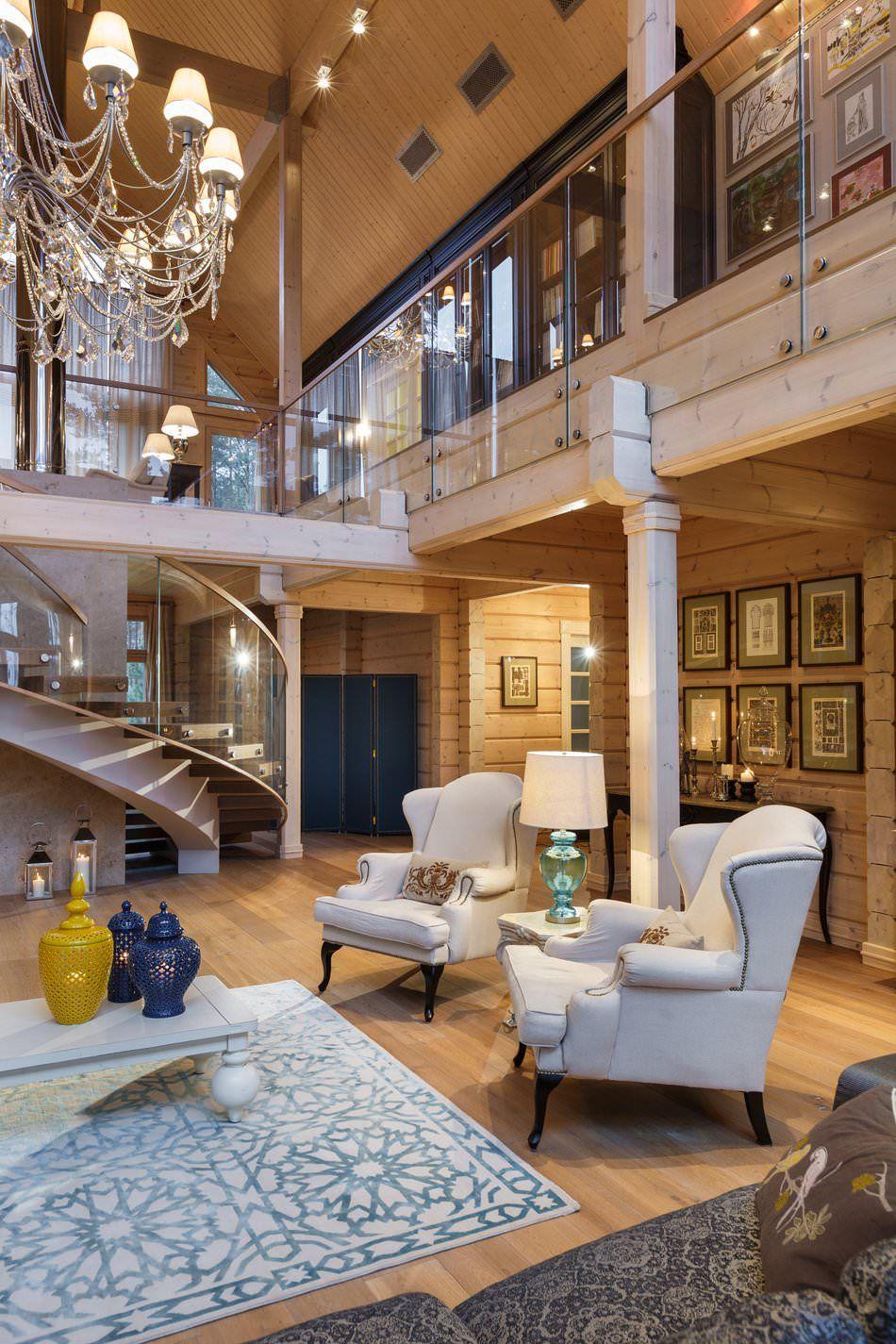 дизайн интерьера дома из клееного бруса Design And Interior в 2019