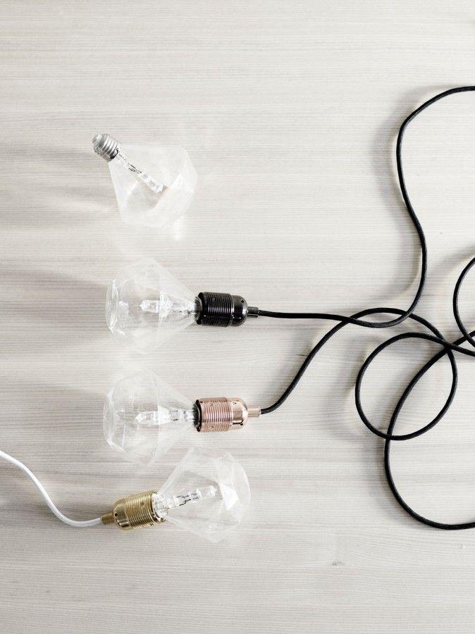 Diamond shape light bulbs//decorative light bulbs
