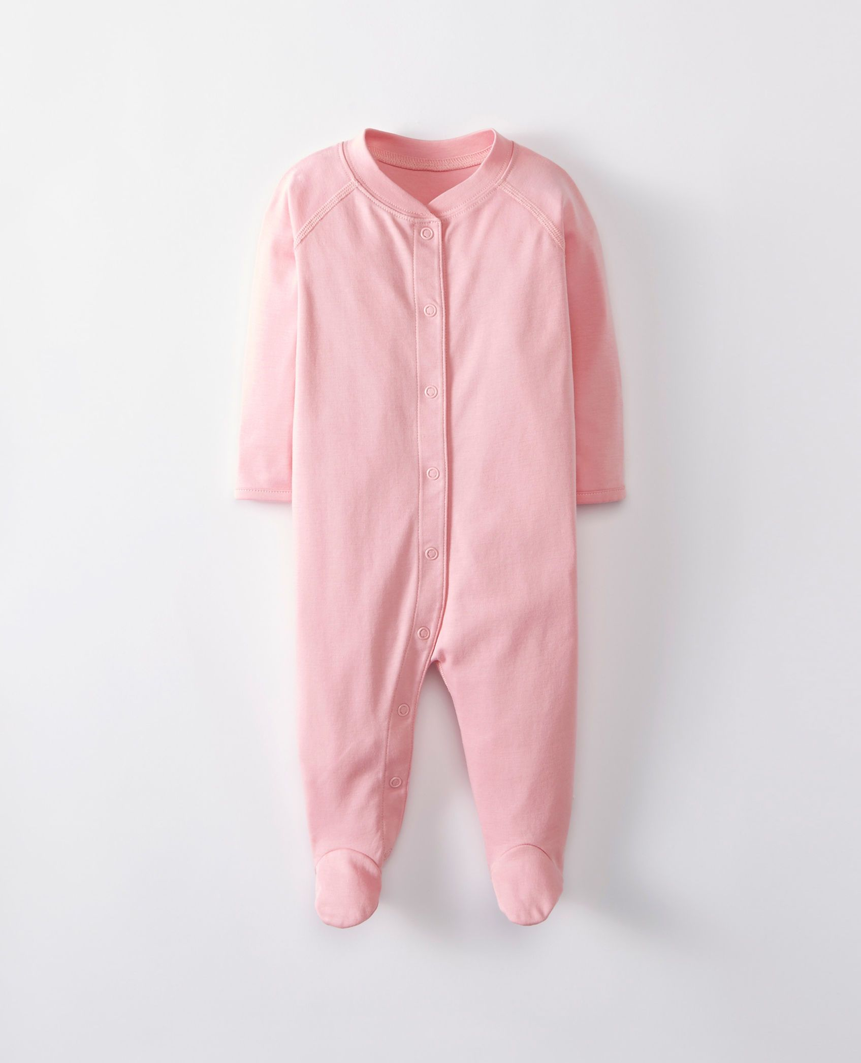 0d8dd4ed1d55 Little Sleepers With Feet In Organic Pima Cotton in Lilla Rosa ...