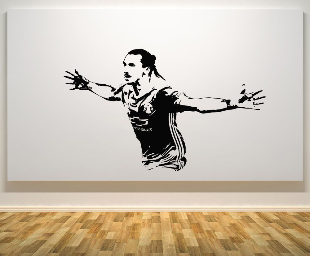 Zlatan Ibrahimovic Swedish Sweden Football Player Decal Wall - Wall stickers decalswall decal wikipedia