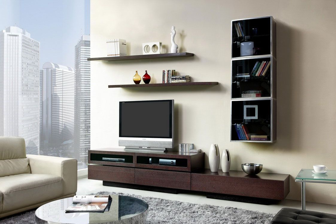 Wonderful Creative Entertainment Center In Apartment