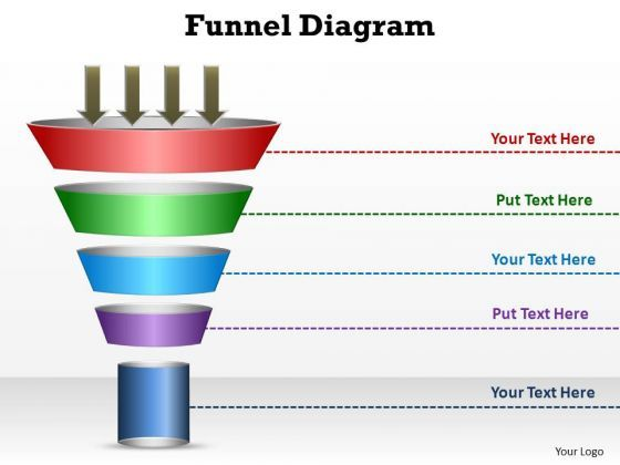 powerpoint template process funnel diagram ppt presentation funnel