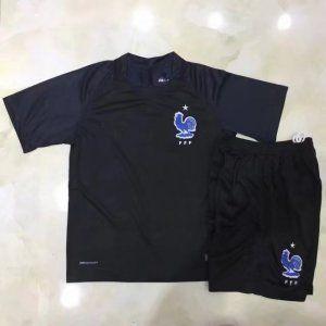 e2386012f Kids France National Team 2017-18 Season Third Black Soccer Kit  J958