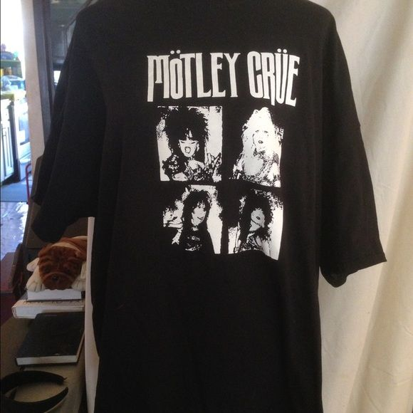 MOTLEY CRUE Tshirt. Brand new. SZ 2x Get your metal on . Brand new never worn Crue shirt. Size 2x. Old school photo of them!! Tops Tees - Short Sleeve