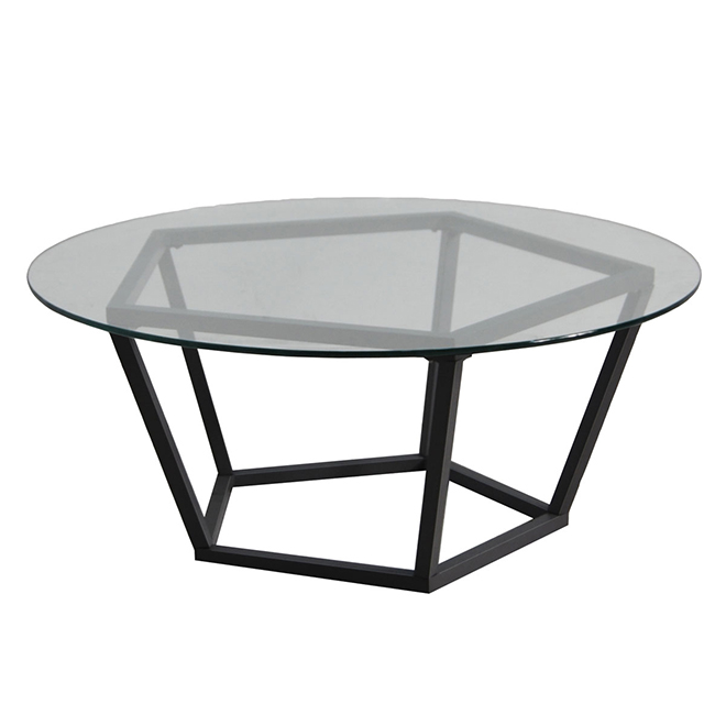 Patio Coffee Table With Glass Top Maxfield Black With Images