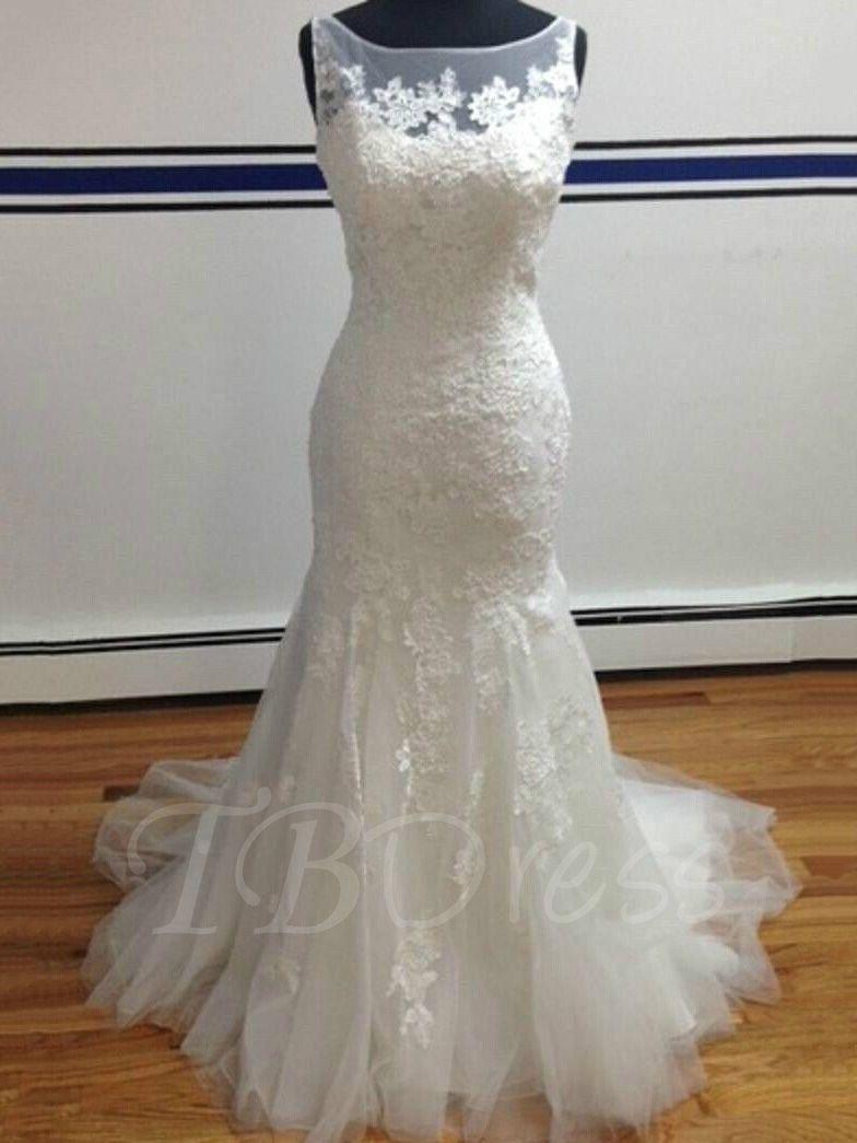 Mermaid Button Sheer Back Lace Plus Size Wedding Dress Ivory Lace Wedding Dress Wedding Dresses Cheap Wedding Dress [ 1045 x 784 Pixel ]
