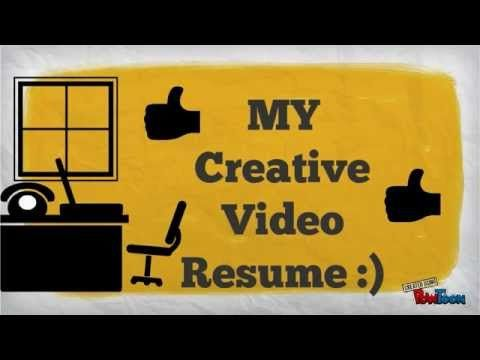 My Creative Video Resume Video Resume Creative Video Creative