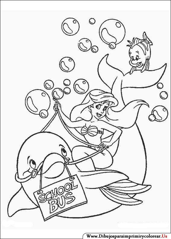 Dibujos De La Sirenita Para Imprimir Y Colorear Sirena Para
