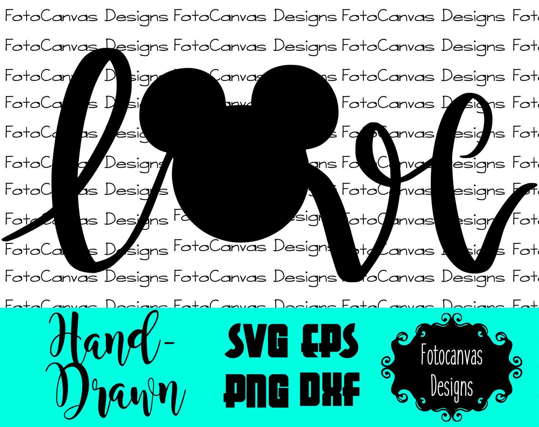 Download Disney SVG Mickey Head, Love, ClipArt, Iron On, Vinyl ...
