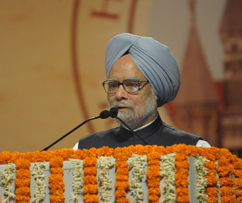 the prime minister dr manmohan singh addressing the concluding