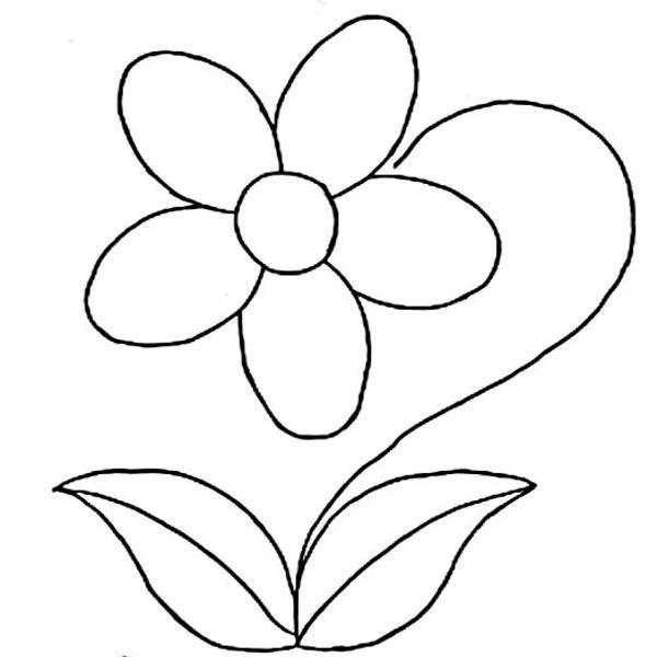 Resultado de imagen de dibujos para colorear de flores  dibujos