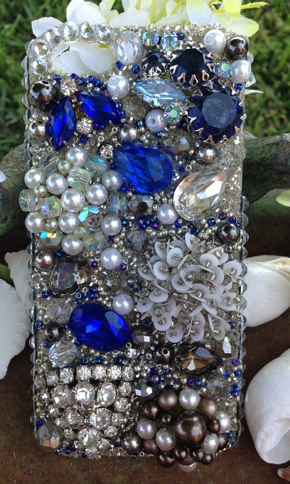 Smokey and Sapphire Vintage iPhone 5 Case by Kianaskases on Etsy, $82.00