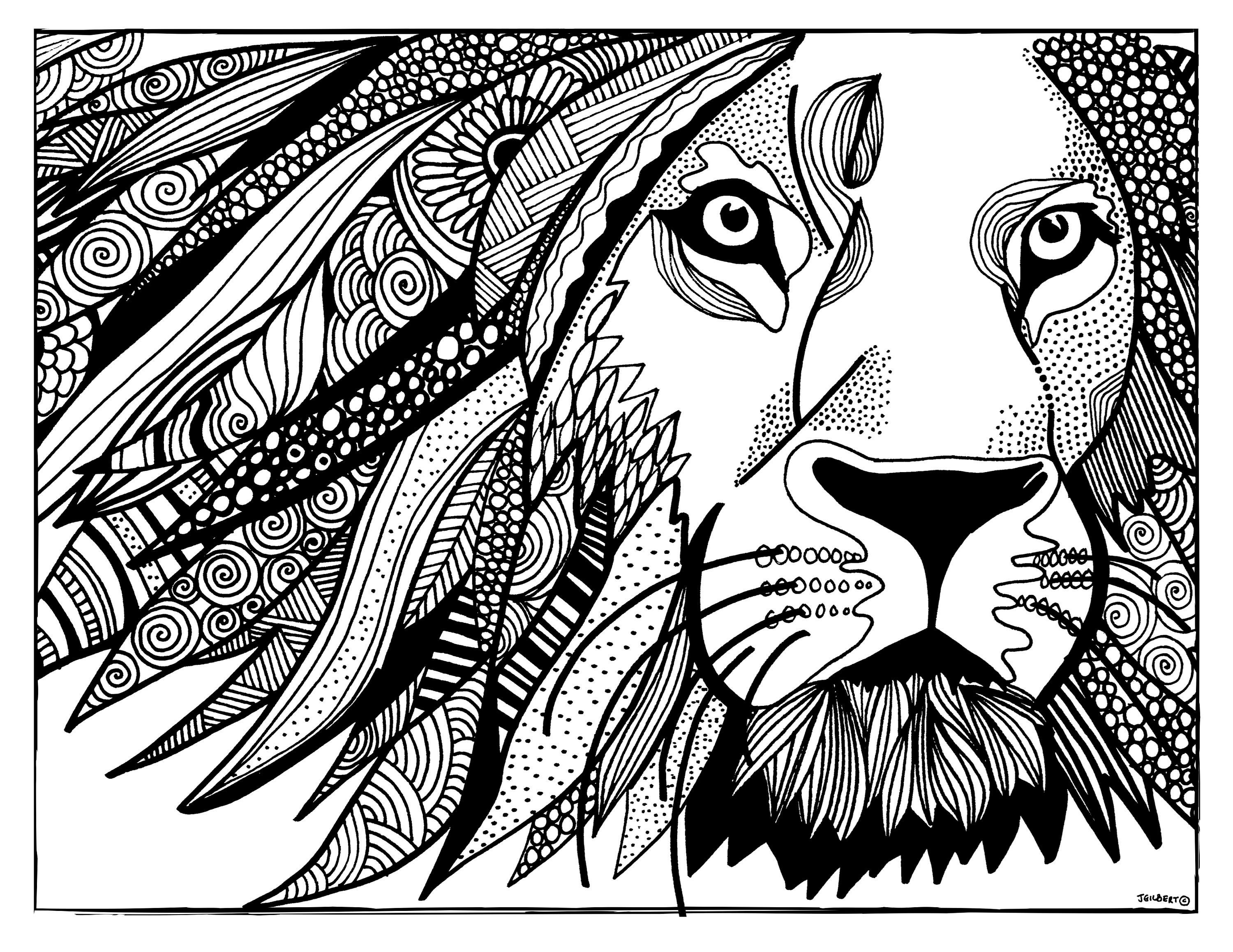 Printable Coloring Page Lion Coloring Page Printable Pdf Etsy Lion Coloring Pages Coloring Pages Cross Coloring Page