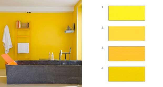 Comment associer la couleur jaune en d co d 39 int rieur - Les couleurs qui se marient avec le gris ...