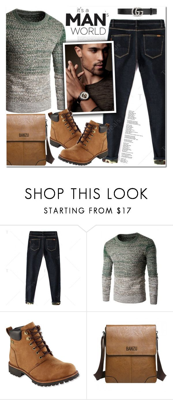 """Man's World"" by oshint ❤ liked on Polyvore featuring L.L.Bean, Gucci, men's fashion and menswear"
