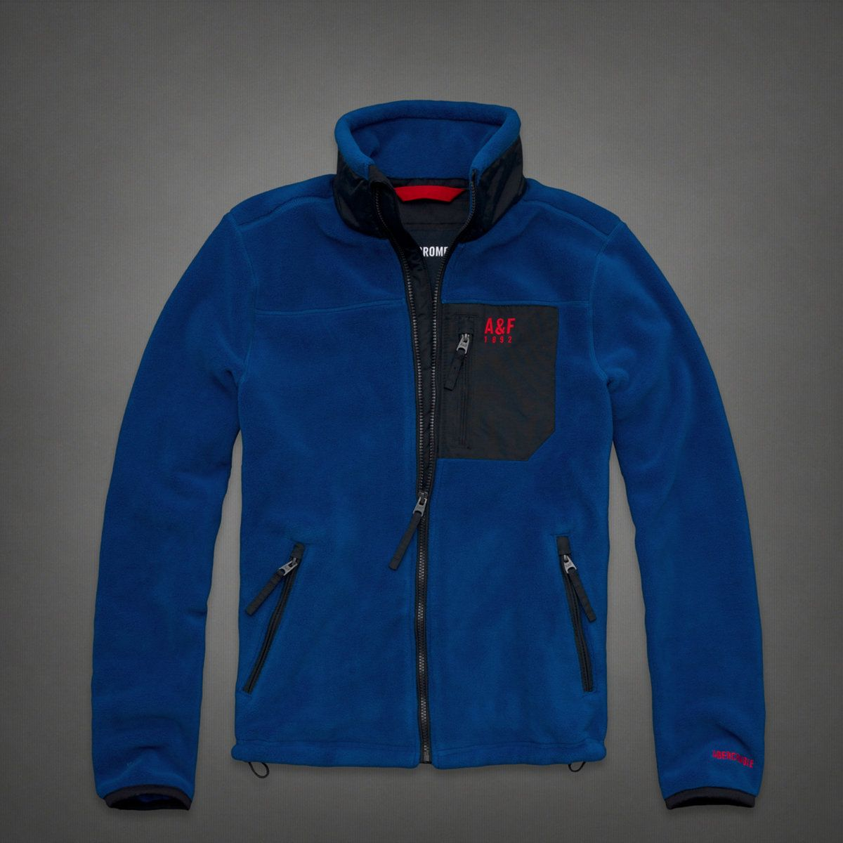 Mens A&f Mountain Fleece Jacket | Mens Outerwear