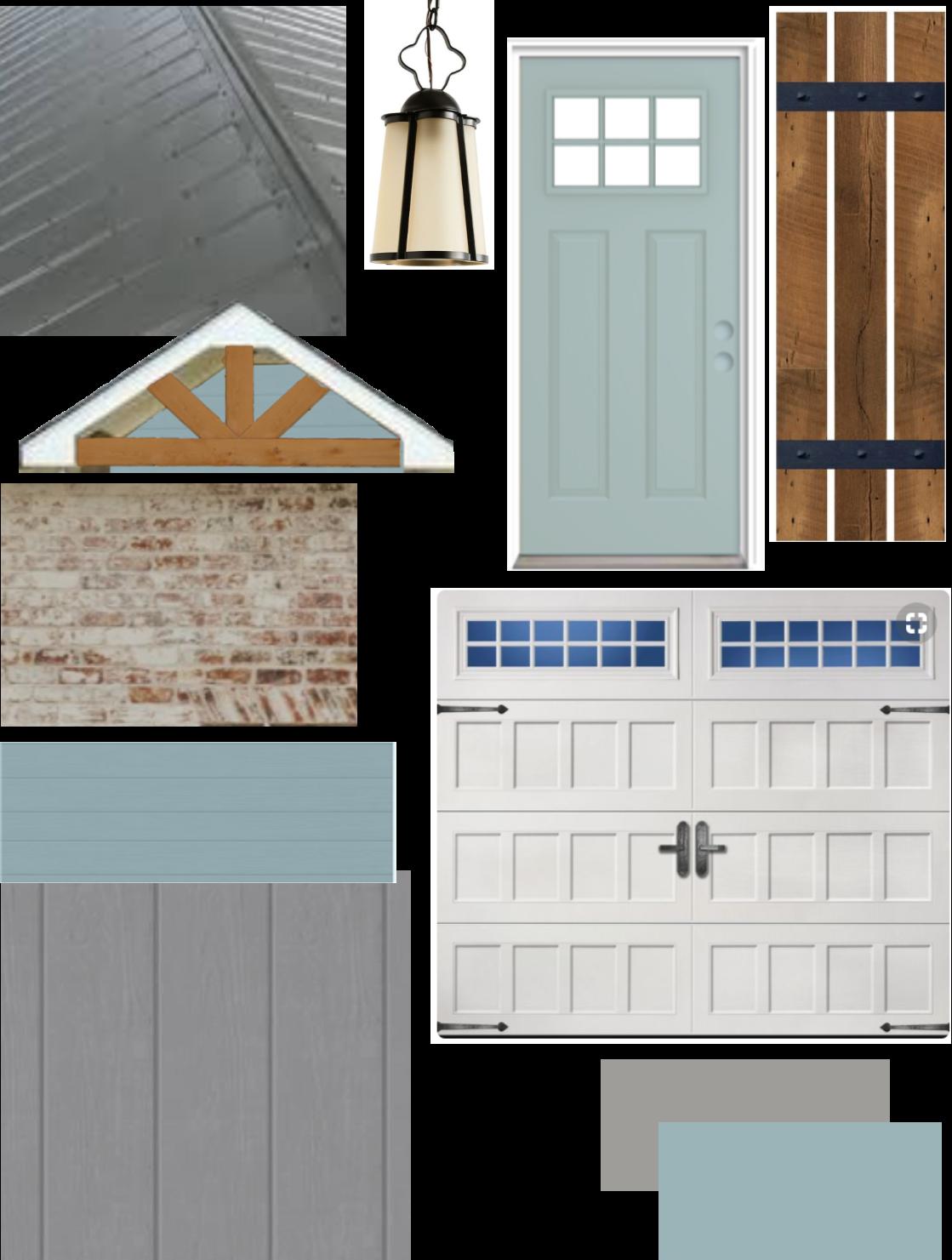 Exterior Palette Tin Roof Schmear Brick Valspar Filtered Shade Gray Behr Harmonious Teal Cr Tin Roof House Farmhouse Exterior Colors Brick Exterior House