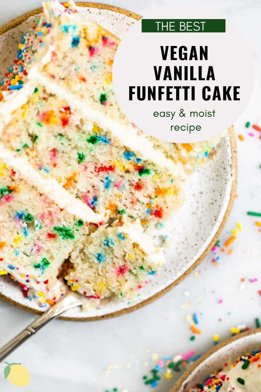 Vegan Vanilla Funfetti Cake Eat With Clarity Desserts Recipe In 2020 Dairy Free Buttercream Vegan Vanilla Cake Banana Oatmeal Recipe