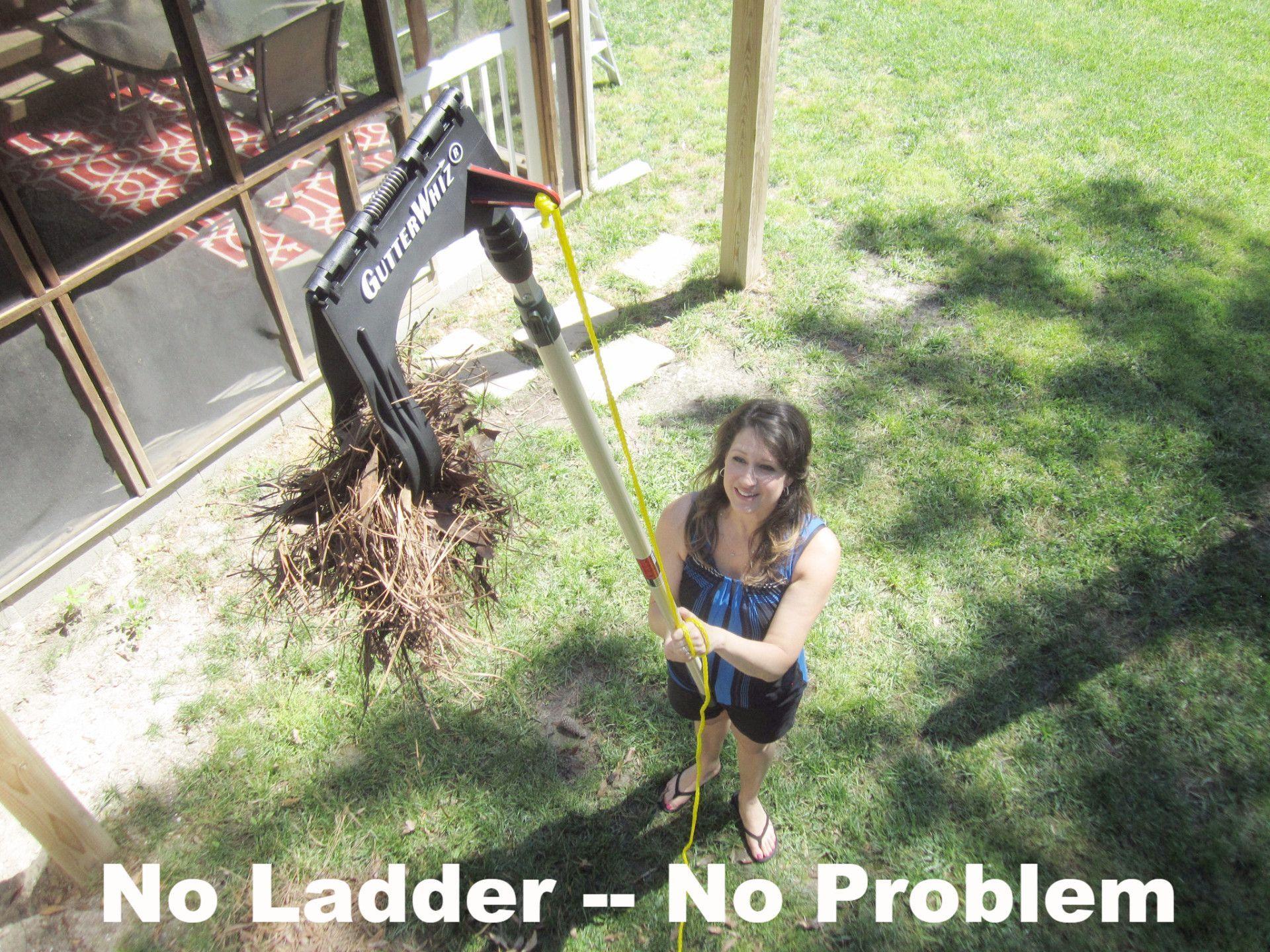 Gutterwhiz Diy Gutter Cleaner No Ladder No Problem Diy Gutters Gutter Cleaner Cleaning Gutters