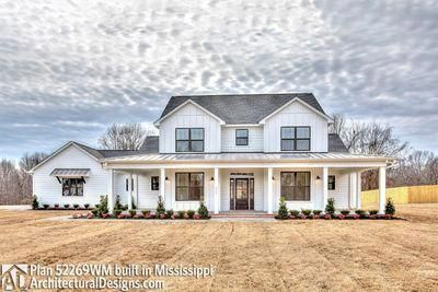 Plan 52269WM: Expanded Farmhouse Plan with 3 or 4 Beds