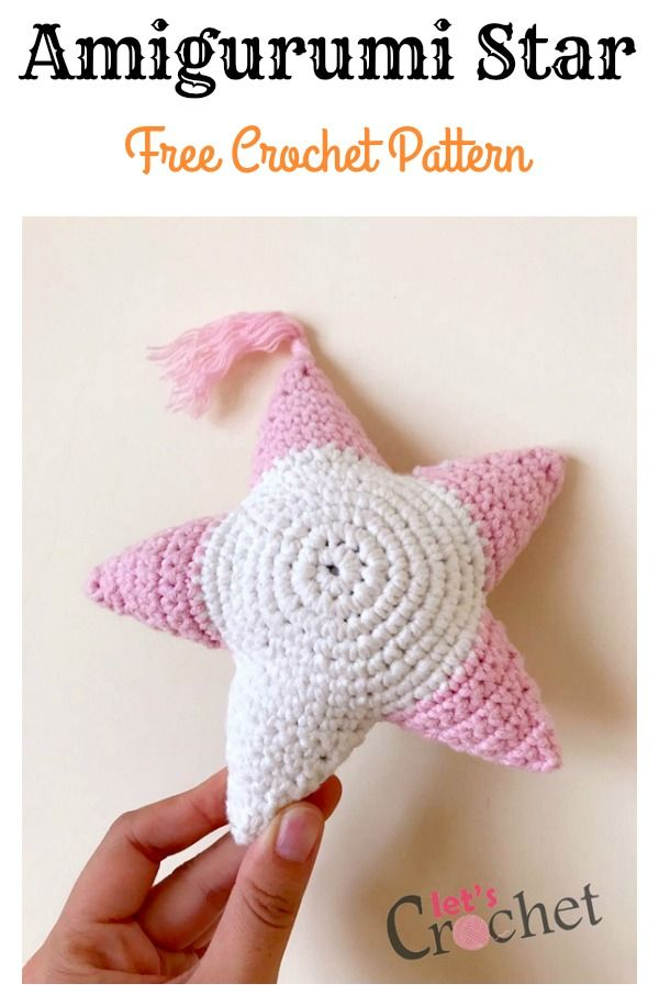 Amigurumi Star Free Crochet Pattern   Pinterest   Tejido