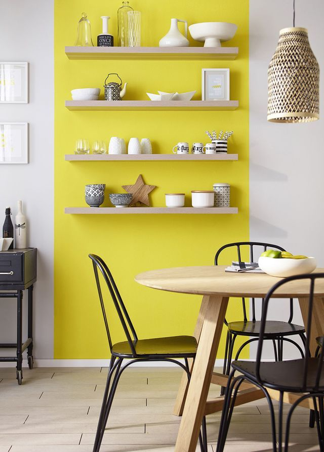 peinture cuisine moderne 10 couleurs tendance cuisine pinterest peinture mur castorama. Black Bedroom Furniture Sets. Home Design Ideas
